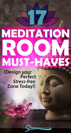 Get the perfect must-have design for your home meditation room with these zen space ideas! We've carefully curated 17 must-have items for your home meditation space that will keep you zen and relaxed all year long! #meditationroom #homemeditationroom #meditationroomdesign #homemeditationspace Kundalini Meditation, Meditation For Stress, Free Guided Meditation, Buddhist Meditation, Meditation Rooms, Meditation Crystals, Meditation Benefits, Meditation For Beginners, Meditation Techniques