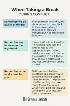 Learning to self-soothe during difficult moments opens the door to empathy, positivity, and creativity. Discover strategies for problem-solving and taking productive breaks during conflict with help from Gottman Relationship Coach today. John Gottman, Relationship Coach, Take A Break, Problem Solving, Positivity, In This Moment, Optimism