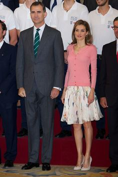 Spanish King Felipe VI and Queen Letizia receive 'Becas Europa' participants at The Royal Palace, 17.07.2014 in Madrid, Spain.