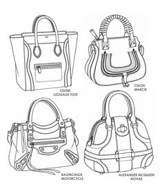 more photos 611b1 5312d Famous handbag designs - sketches by Emily O Rourke