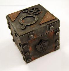 Steampunk Box, this slab clay