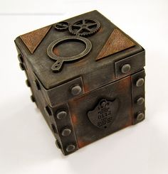 Steampunk Box, this slab clay