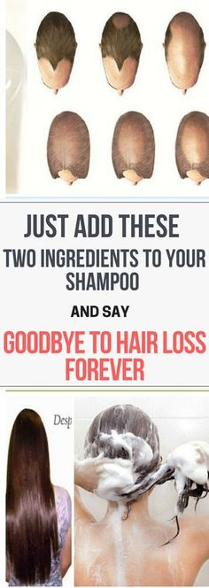 Just Add These Two Ingredients To Your Shampoo And Say Goodbye To Hair Losss..!!