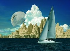 Sailing With The Moon-Oil