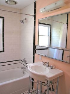 find this pin and more on bathroom renovations - 1940 Bathroom Design