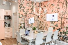 The JHD Office Reveal You Have Been Waiting for is Finally Here! Jillian Harris, Hickory Wood, Panel Moulding, Studio Kitchen, White Countertops, Office Walls, Built Ins, Second Floor, Home Office