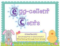 Have an Egg-cellent time practicing counting money with Egg-cellent Cents! Simply fill 12 plastic eggs with different coin values and you're in business! We'd love and appreciate feedback if you choose to download-Thanks so much!If you have any questions, please feel free to email us at  flutteringthroughfirstgrade@gmail.comWed love for you to come 'flutter around' our blog where we have more detailed descriptions of our products and freebies too!