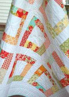 Marmalade Baby Quilt -  Patchwork Quilt - Baby Blanket - Modern Baby Quilt - Quilted Blanket - Moda Marmalade. $100.00, via Etsy.