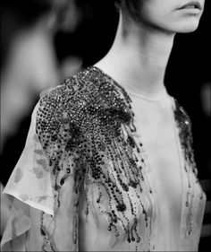 Beaded garments are a popular embellishment used a lot in clothing, especially in higher levels of Fashion.