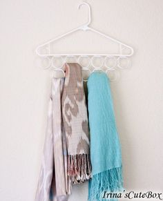 Inexpensive scarf holder -  Excellent idea and I can reclaim the Drawer of Scarves