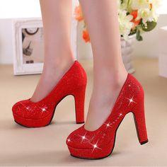 de990a684 Sapatos de casamento da noiva verão vermelho de salto alto estilo chinês sapatos  vermelhos casados sapatos de noiva de ouro sapatos de dama de honra