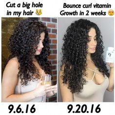 Hair vitamins with Fenugreek & Panax Ginseng Root Bounce Curl Vitamins are formulated to give your body the proper nutrients to help strengthen the appearance of healthy hair, skin and nails. These ingredients Curly Hair With Bangs, Curly Hair Tips, Short Curly Hair, Curly Hair Products, Curly Hair Growth, Curly Hair Routine, Colored Curly Hair, Curly Hair Care, Wavy Hair