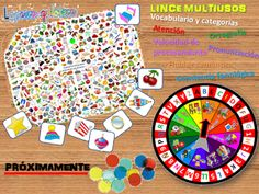 La psico-goloteca: LINCE MULTIUSOS English Games, English Activities, School Games, Diy Games, Play To Learn, Science Fair, Home Schooling, English Lessons, Reading Skills