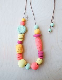 Hey, I found this really awesome Etsy listing at https://www.etsy.com/listing/208827297/polymer-clay-necklace-handmade-and