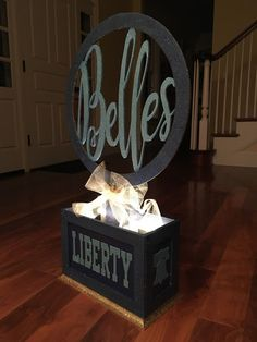Dance Team Competition Centerpiece or Table Decoration...silhouette sign...new blog post from The Lily of the Valley Craft Room!