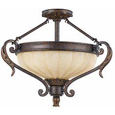 Triarch International Venus 3-light English Bronze Semi-Flush Mount   Overstock™ Shopping - Big Discounts on TRIARCH INTERNATIONAL Flush Mounts