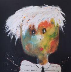 Christine BARRES - Série Portrait / Art contemporain - Peinture