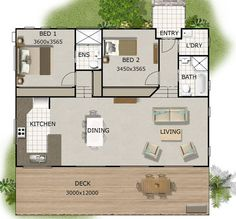 120m2  4 Bedrooms  Home Plan 2 bed  2 bedroom acreage home
