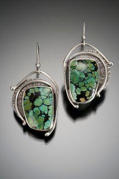 Nisa Smiley - turquoise & sterling silver earrings