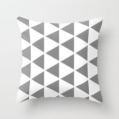 Sleyer Grey on White Pattern Throw Pillow by Stoflab