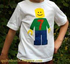 The Quilted Turtle: Lego Minifig Birthday Shirt