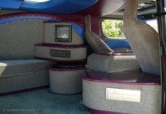 1969 Custom Chevy Van Interior Detail Historic Downtown DeLand FL Cruise In