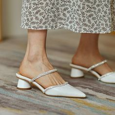 Chiko Kymberlyn Pointed Toe Block Heels Clogs/Mules Clogs Shoes, Mules Shoes, Oxfords, Loafers, Flats, Pointed Toe Block Heel, Block Heels, Pretty Shoes, Beautiful Shoes