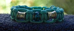 Turquoise Blue Beaded Paracord Bracelet  Size 6.5 by RainyDayzArt, $12.50  https://www.etsy.com/listing/190932937/turquoise-blue-beaded-paracord-bracelet?