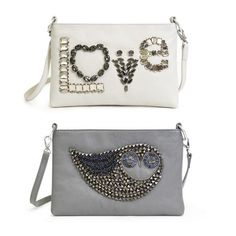 Beaded & Gold Motif Leather Bags by Jonathan Adler