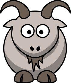 'Goat Head Cartoon Design' A-Line Dress by critterville Farm Cartoon, Goat Cartoon, Cartoon Gifs, Cartoon Images, Clipart, Impression Sur Tee Shirt, Silhouette Clip Art, Goat Farming, Free Cartoons