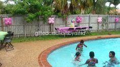 "Photo 1 of Hawaiian Luau / Birthday ""Pretty Pink Luau"" Luau Birthday, Birthday Parties, Birthday Ideas, Teenage Parties, Balloon Flowers, Hawaiian Luau, Luau Party, Pretty In Pink, Balloons"