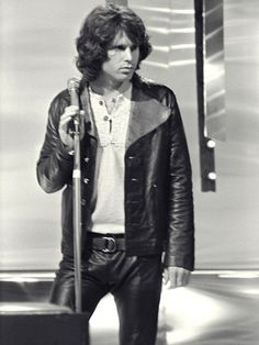 Jim Morrison Rockin the leather like nobody else before or since!