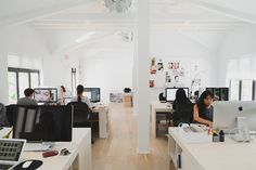 Lofted ceilings keep the office airy and bright.