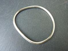 Sterling Silver Irregular Bangle - Sold
