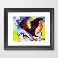 angelfish Framed Art Print by seb mcnulty - $32.00