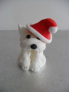 Christmas Cake Topper - your dog in a Santa hat! £7.99
