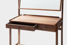 GHGM - 굿핸드굿마인드 Table Furniture, Vintage Furniture, Furniture Design, Wooden Desk, Dressing Table, Woodworking Tips, Kitchen Storage, Stool, Living Room