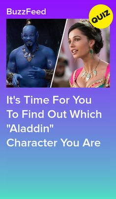 "It's Time For You To Find Out Which ""Aladdin"" Character You Are Princess Quizzes, Disney Princess Quiz, Disney Quiz, Disney Live, Disney Stuff, Disney Magic, Disney Frozen, Quizzes For Kids, Fun Quizzes To Take"