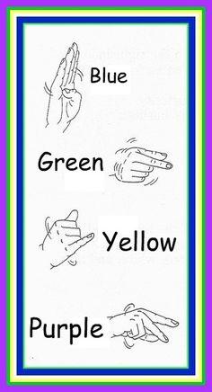 Sign Language Colors