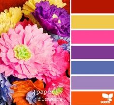 flowers as paint color inspiration, flowers as color decorating inspiration, flower colors as decorating ideas