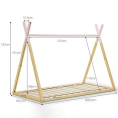 Continental Designs Teepee Single Pine Wood Bed