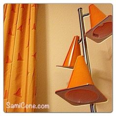 Traffic Cone tiered floor lamp inside the Art of Animation Cars suite. Love the details in the rooms!