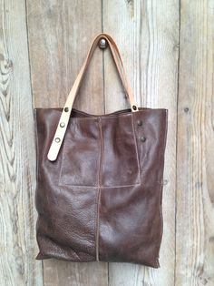 KP#1323 soft brown leather tote from #LABOUR OF ART
