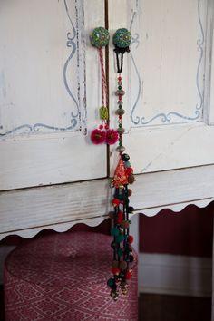 Boho bells, beads, tassels and poms