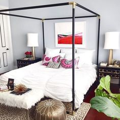 41 Glamorous Canopy Beds Ideas For Romantic Bedroom. Ever since I was a child, I have adored canopy beds. Growing up, my parents had a great wrought iron bed that . Canopy Bedroom, Home Bedroom, Bedroom Decor, Canopy Beds, Bedroom Ideas, Master Bedroom, Canopies, Bed Ideas, Ikea Canopy