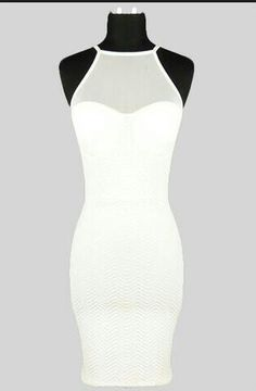 ee53ac5c0c6 Love Me Tender Mesh Panel Bodycon Dress - Off White Dresses For Teens