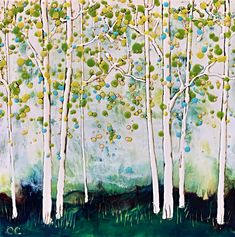 Campfires Burning, encaustic landscape by Catharine Clarke | Effusion Art Gallery + Cast Glass Studio, Invermere BC Modern Art, Contemporary Art, Quirky Decor, Cast Glass, Campfires, Summer Landscape, Encaustic Painting, Canadian Artists, Colorful Paintings
