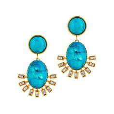 Loren Hope Roxy Earrings in Turquoise by: Loren Hope @Reed Morse Solly Jewelers
