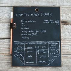 I can't decide if I want this or want to give this to someone. Or both?  Chalkboard Pad - $50