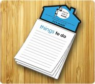3.5 x 6.25 Magnetic Memo Pads with House Shape Magnet 50 Sheets
